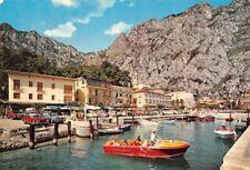 Cartolina Lago di Garda Limone Porto Motoscafo Riva animata 1973