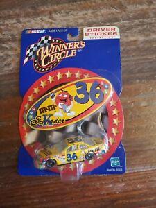 M&M's Nascar Winner's Circle Driver Sticker Collection Diecast Car Ken Schrader