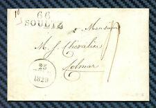 -== Lettre de SOULTZ pour COLMAR (Haut-Rhin) - 1829 ==-