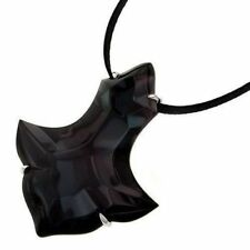 """$908 Baccarat Black Pampilles 2 3/4"""" Pendant 18"""" Necklace jewelry MIB 2605029"""