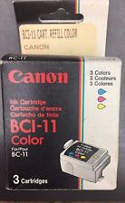 Lot 4 New Genuine Canon BCI-11 Color Inkjet cartridges in box