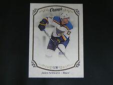 2015-16 Upper Deck UD Champs Base Card #62 Jaden Schwartz St. Louis Blues