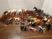 Vintage Plastic Horse Figure Lot of 34 Various Brands And Sizes
