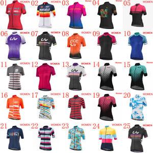 Womens Cycling Jersey Bike Short Sleeve Shirt Summer Bicycle Clothing Sportswear