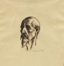 Boardman Robinson Original Signed Sketch of a Man 1930s ~ Broadmoor Art Academy