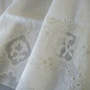 Antique Handmade Batiste BABY Pillow + Sheet WHITEWORK Hand Embroidery + LACE