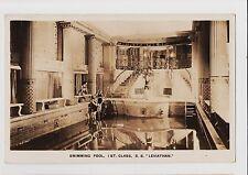 RPPC,S.S.Leviathan,Ocean Liner,1st Class Swimming Pool,U.S.Lines,1Sea Post,1926