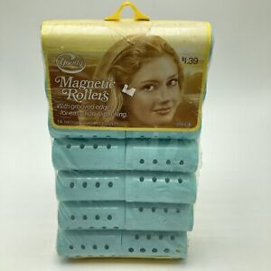 Vintage Goody Magnetic Rollers 14 Medium Bouffant Hair Curlers
