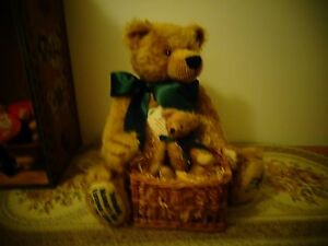 collectable hermann green tag 2002 sonneberg museum bear limited edition growler