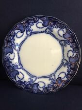 """FLOW BLUE 9"""" DELAMERE LUNCHEON PLATE BY HENRY ALCOCK ENGLAND 1900 SUPER CONDITIO"""