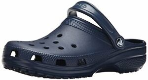 Crocs Mens Alligator Slip On Casual Clogs, Navy, Size  90EV
