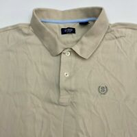 Izod Polo Shirt Men's Size 2XL XXL Short Sleeve Tan Silkwash Casual Golf Cotton