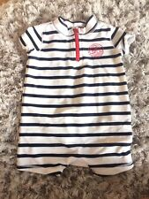 Gap Blue Striped Uv Swimsuit 0-6 Months