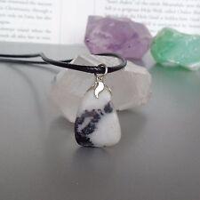 Zebra Jasper Necklace - Amulet of Uplifting Energy - Healing Crystal Pendant