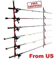 Ceiling Rod Rack Storage Reel Fishing Wall Mount Overhead Holder Horizontal Pole