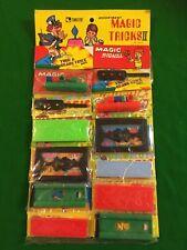 Vintage Magic Tricks Childrens Toys Shop Card Of 12 1970's Stocking Filler Retro