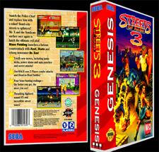 Streets of Rage 3 - Sega Genesis Reproduction Art Case/Box No Game.