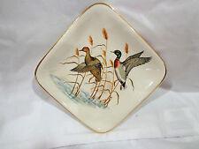 vintage Sandland ware,staffordshire England trinket dish, woodland ducks