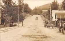 E72/ St Marys West Virginia RPPC Postcard 1910 Street View Wagon Shop