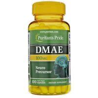 Puritan's Pride DMAE 100mg - 100 Capsules - Healthy Brain Function