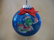"Very UNIQUE Handmade Green M&M's 4"" Round Acrylic Ornament~Made In The USA, NEW!"