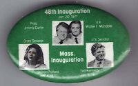 1977 CARTER & MONDALE INAUGURATION  TED KENNEDY Mass. Sharon Pollard pinback