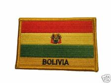 Bolivia Embroidered Flag patch -Iron on or Sew