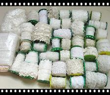 CLEARANCE LOT 0.5 POUND! PREMIUM Venise Lace Trims WHOLESALE White Ivory Wide