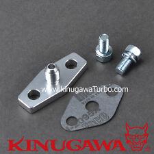 Billet Alumimum Turbo Oil Feed Flange Garrett T3/T4R Ball Bearing 1mm Restrictor