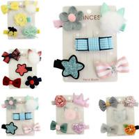 New 5PCS Hairpin Baby Girl Hair Clip Bow Flower Mini Barrettes Star Kids Infant
