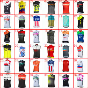 Mens Team Cycling Jersey Cycling Sleeveless Jersey Cycling Tops Bicycle Jerseys