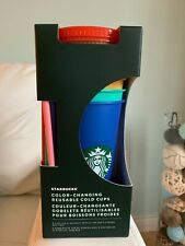 Starbucks Color Changing Reusable Cold Cup Tumbler 24 oz, Set of 5 Pack NEW