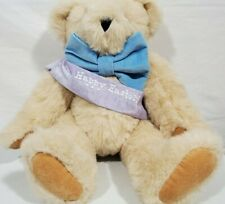 """Vermont Teddy Bear Happy Easter 15"""" Classic Jointed Plush Stuffed Animal Bear"""