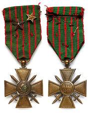 Croix de Guerre 1914-1916. Avec 2 étoiles. Bronze. France. 1°Guerre Mondiale,WW1