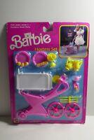 Mattel 1989 Barbie Hostess Set Tea Cart & Accessories