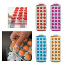 ICE TRAY EASY POP OUT PLASTIC SILICON TOP MOULD 21 COCKTAIL DRINK CUBE MAKER