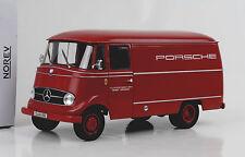 1955 Mercedes-Benz L319 Kasten LKW Porsche Renndienst 1:18 Norev