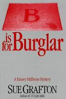 B is for Burglar A Kinsey Millhone Mystery Hardcover book Sue Grafton FREE SHIP