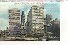 Penn Center and City Hall  Philadelphia   PA   Chrome Postcard 2217a