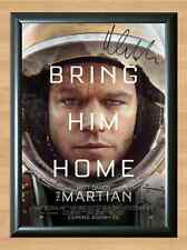 The Martian Movie Matt Damon Signed Autographed A4 Poster Print Photo Poster dvd