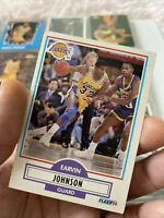 1990-1991 Fleer Magic Johnson #93 Basketball Card Los Angeles Lakers