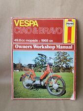 Vintage Haynes Vespa CIAO & BRAVO Owners Workshop Manual 1968