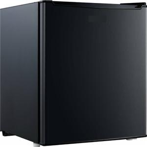 1.7 CU FT Black Metal Mini Fridge Small Refrigerator Freezer Single Door Compact