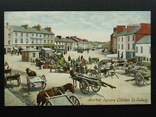More details for ireland galway clifden market place market day & timber cart c1909 postcard