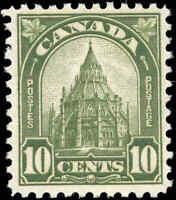 1930 Mint H Canada F+ Scott #173 10c King George V Arch/Leaf Stamp
