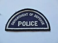 Vintage Department of Defense Police Cheese Cloth Patch 1980's? Used Obsolete