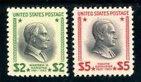 USAstamps Unused VF US $2-5 Presidential High Value Singles Scott 832-834 OG MNH