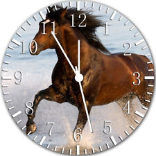 Horse in The Water Frameless Borderless Wall Clock Nice For Gifts or Decor Y38