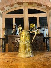 More details for antique joseph sankey art nouveau copper lidded large water jug c1905