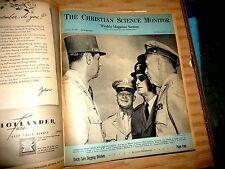 CHRISTIAN SCIENCE MONITOR MAGAZINES 1944 WWII WORLD NEWS ADS MATSUO SUZUKI JAPAN